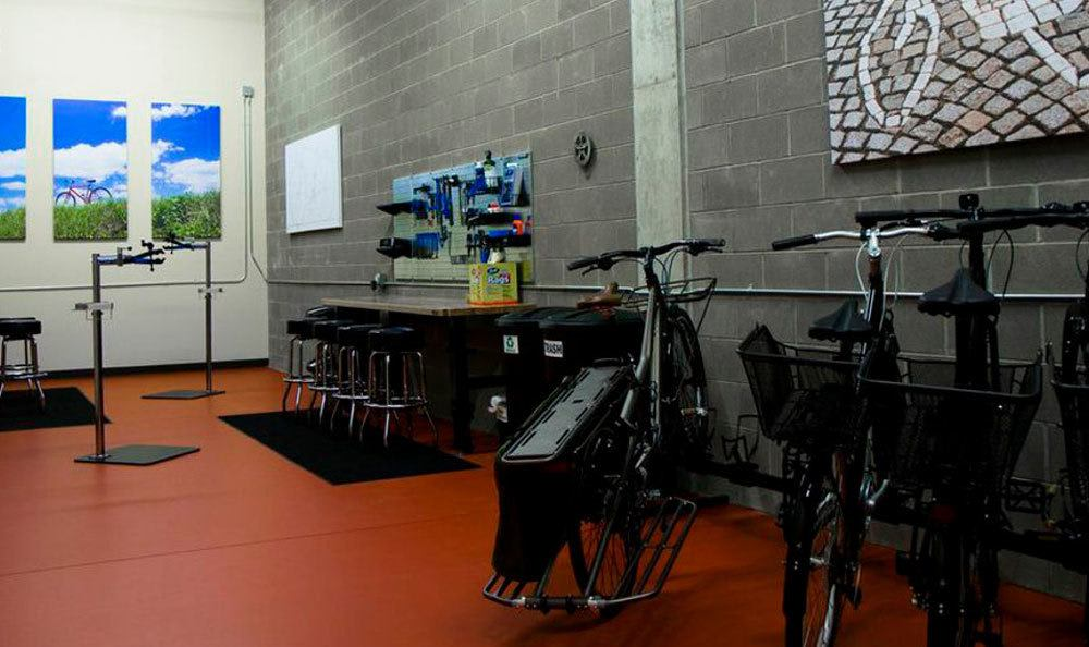 Our apartments offer a bike shop for your convenience