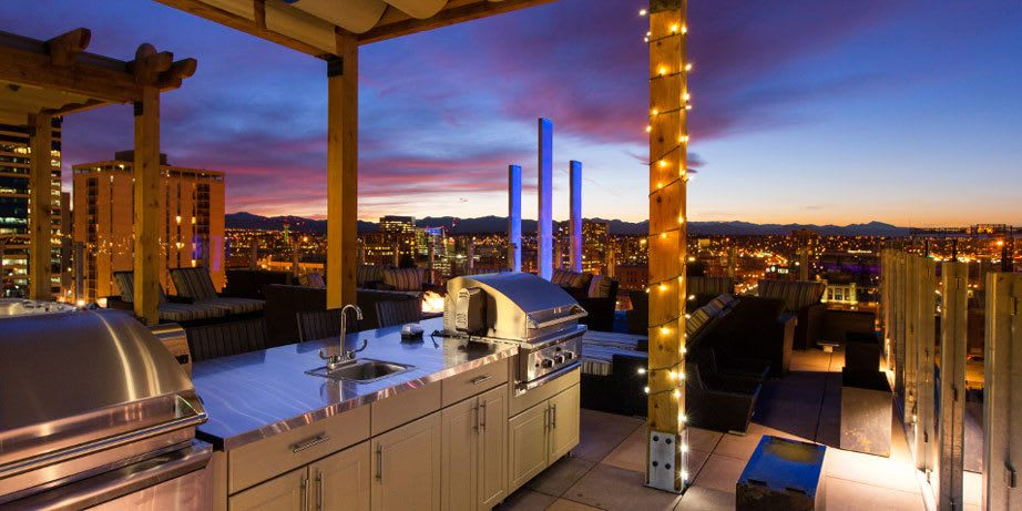 Our rooftop kitchen lets you put on gourmet parties