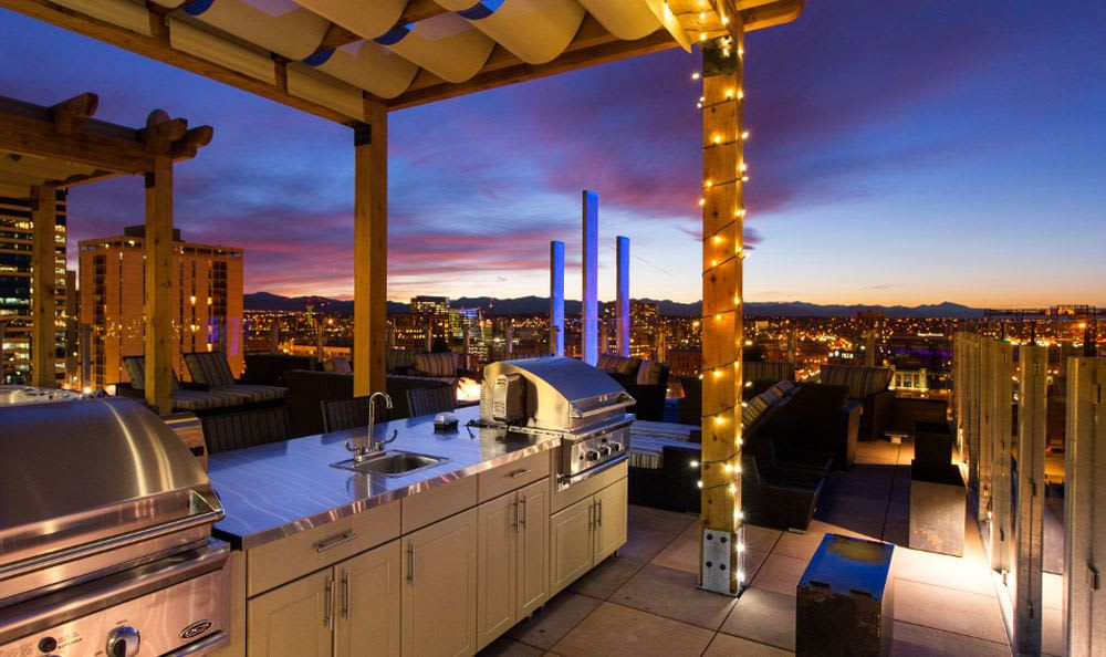 The rooftop kitchen at our apartment community