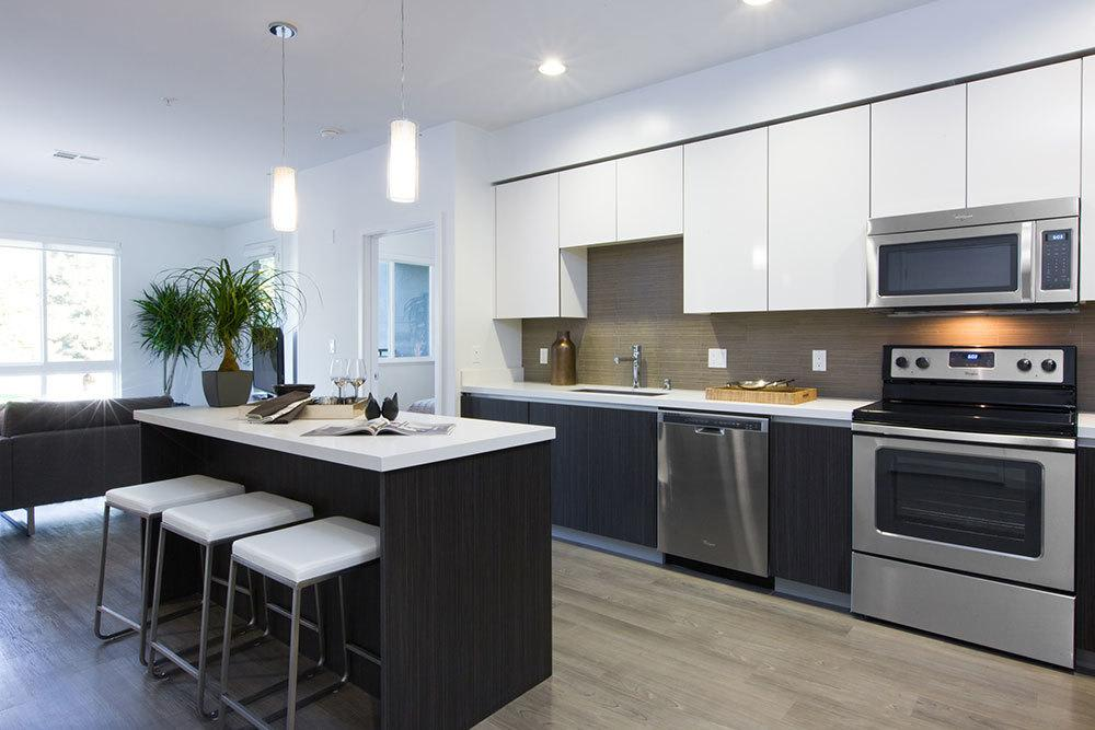 European style kitchen at luxury apartments in San Jose