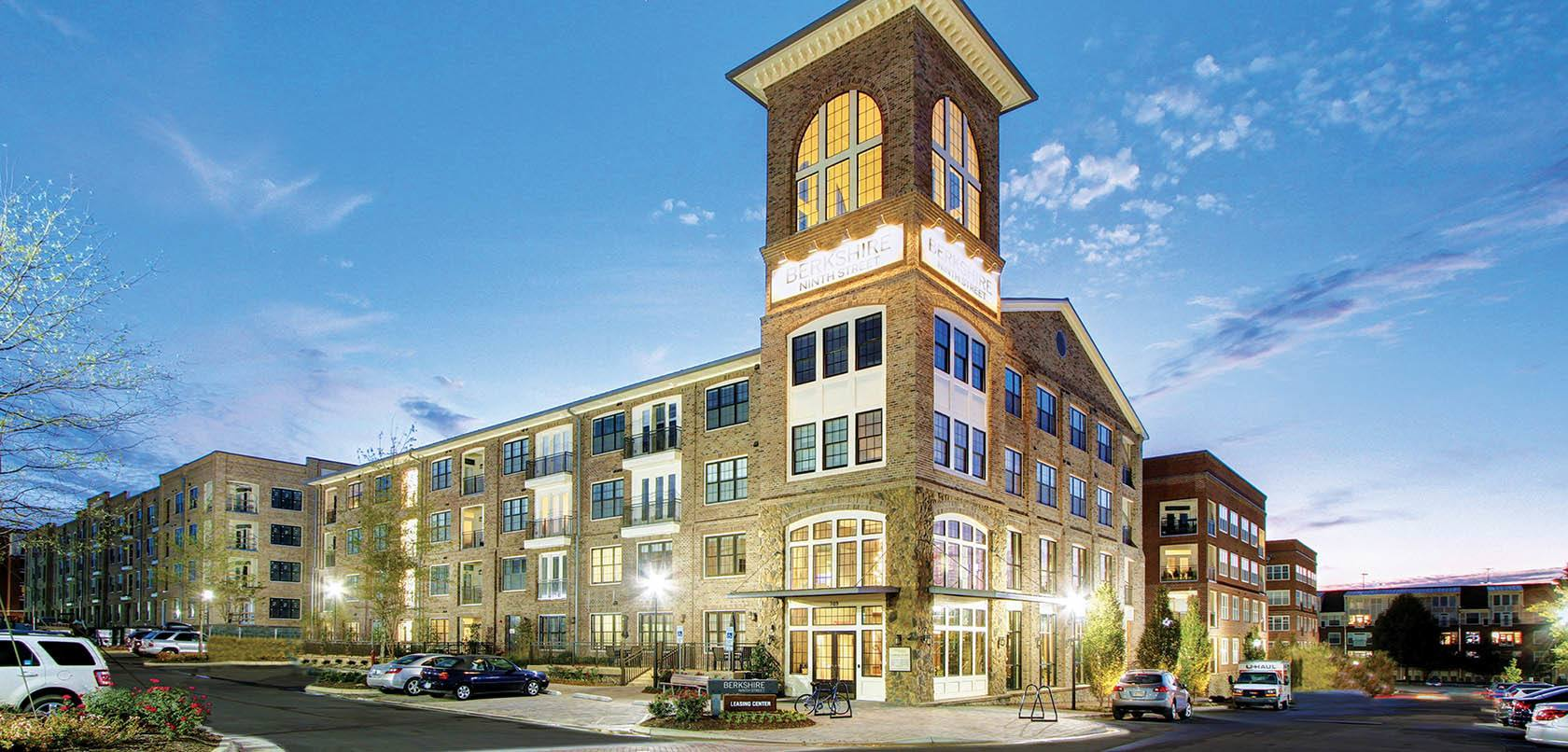 Luxury Durham Nc Apartments For Rent Berkshire Ninth Street