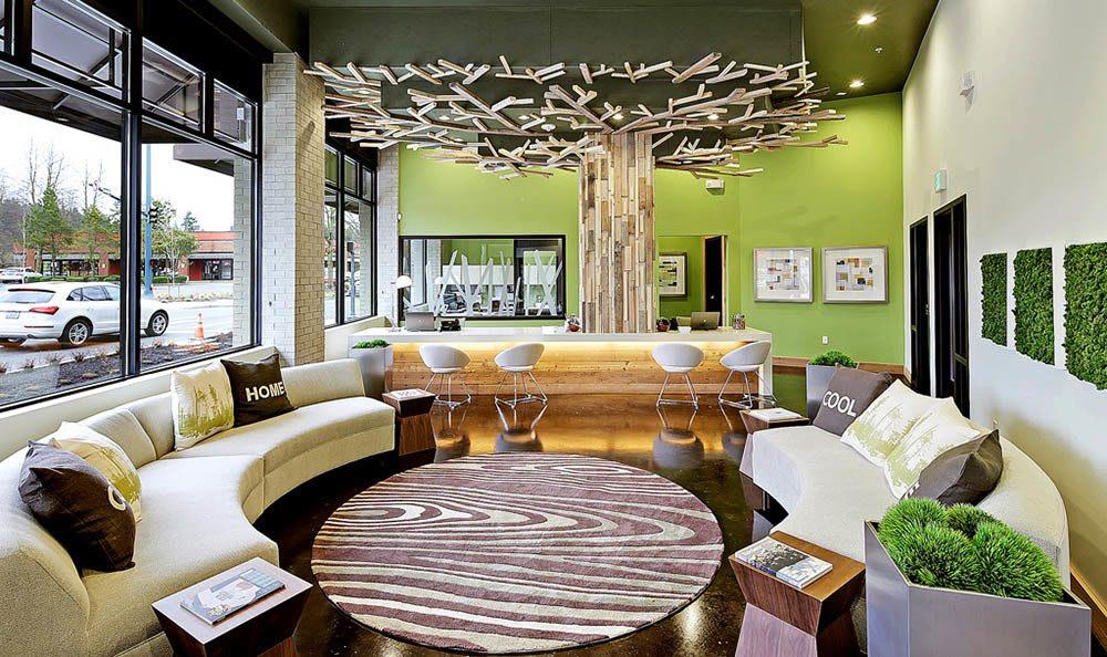 Well-decorated interiors at Elan Redmond