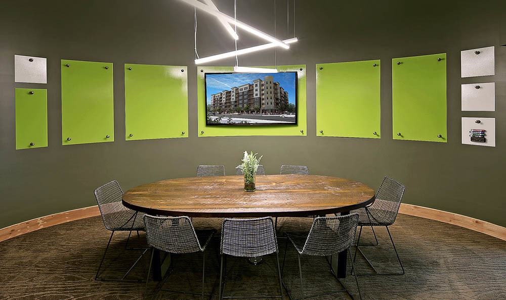 Dining room at apartments in Redmond