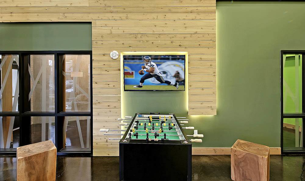 Foosball at apartments in Redmond