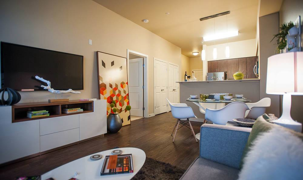 Living room at apartments in Redmond, WA