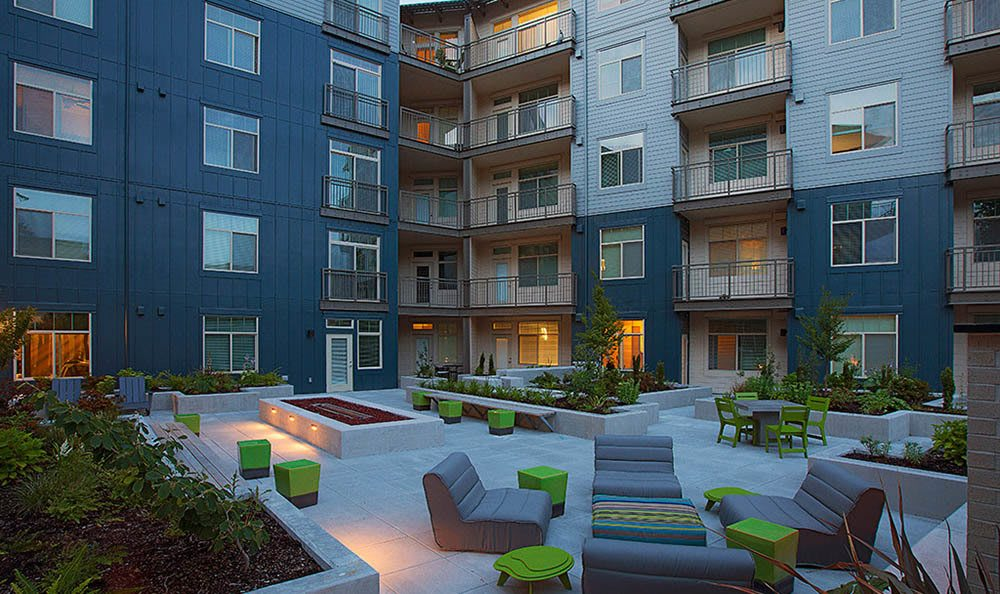 Outdoor area at apartments in Redmond