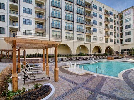 Enjoy the pool at our luxury apartments in Raleigh