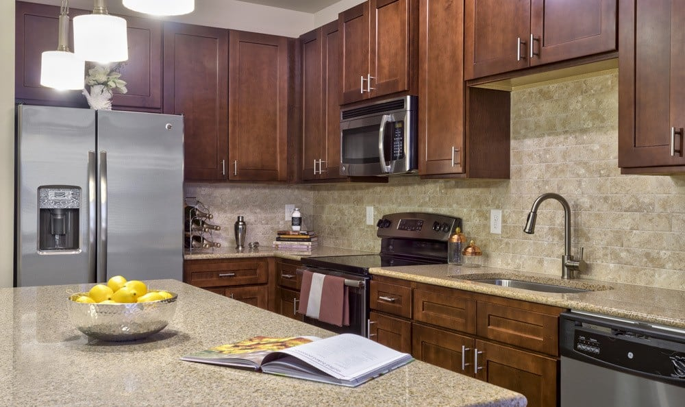 Kitchen at apartments in Raleigh