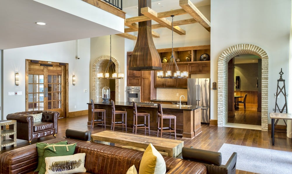 Social lounge at apartments in Raleigh