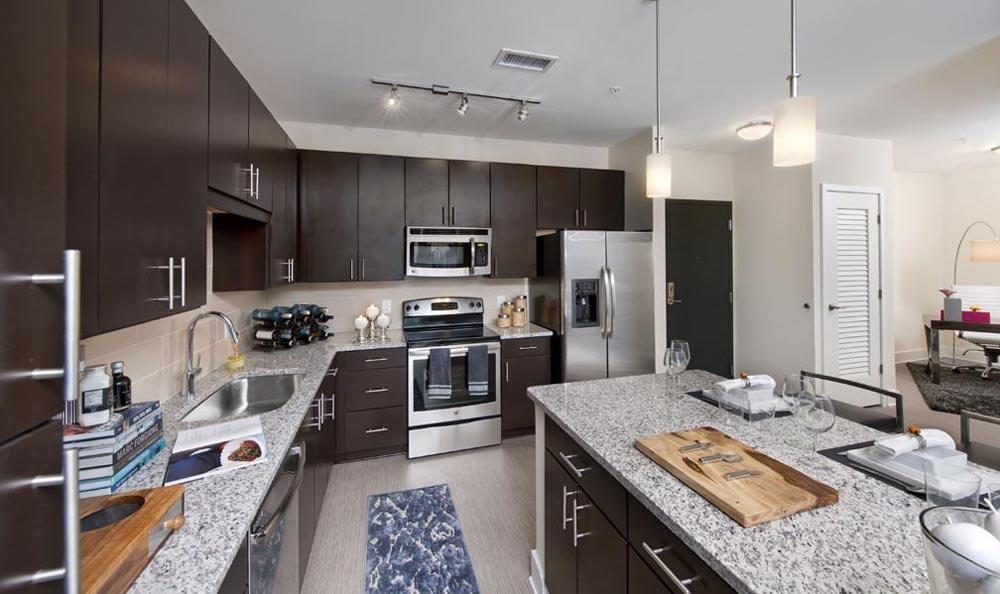 Kitchen at apartments in Atlanta