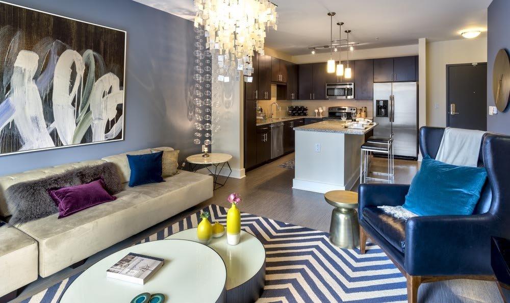 Living room at apartments in Atlanta