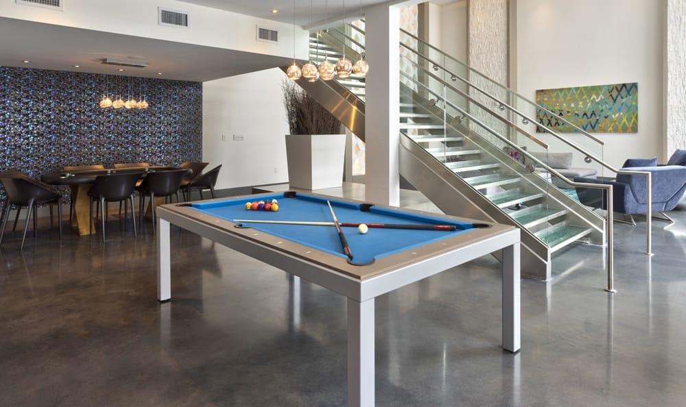 Pool table at apartments in Atlanta