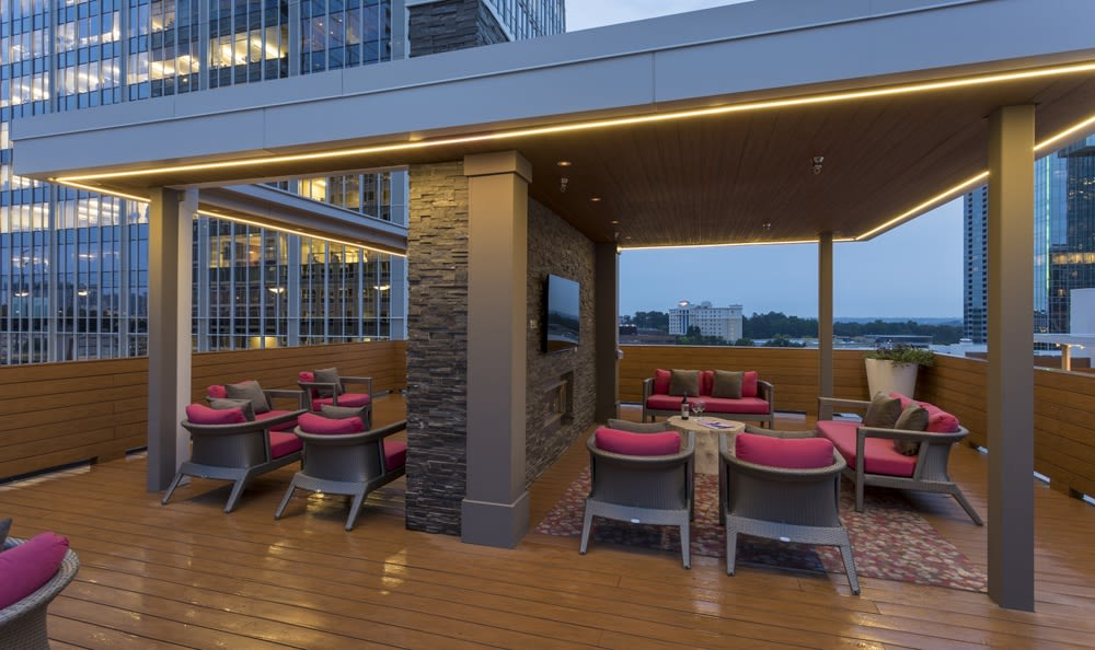 Rooftop lounge with incredible views