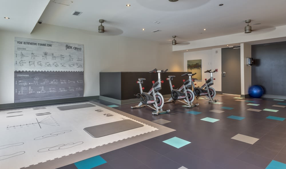 Spacious fitness center at Berkshire Terminus