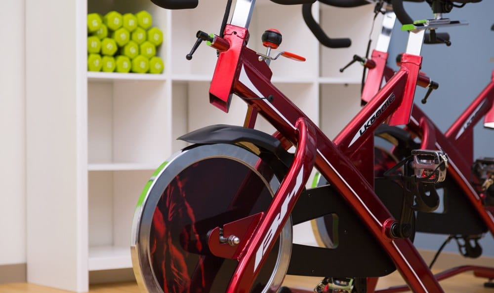 Spin bikes at Seattle apartments.
