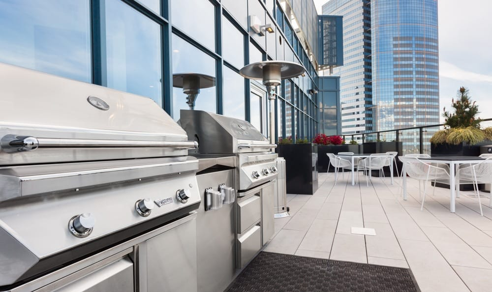 Barbecue area at Seattle apartments.