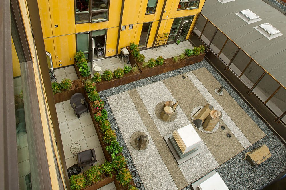 Our apartments offer a refreshing outdoor courtyard and garden area