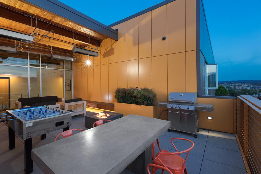 Join friends or neighbors on our rooftop lounge for a BBQ party