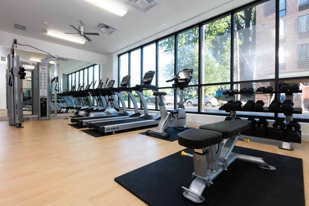Take advantage of Cook Street Apartments professionally outfitted fitness facility