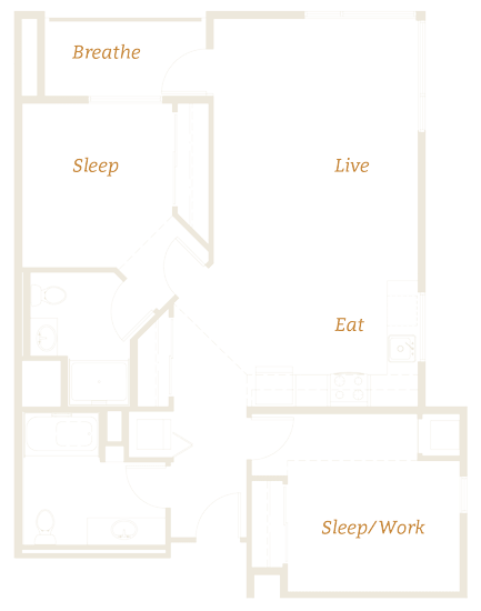 An example of one of our spacious floor plans
