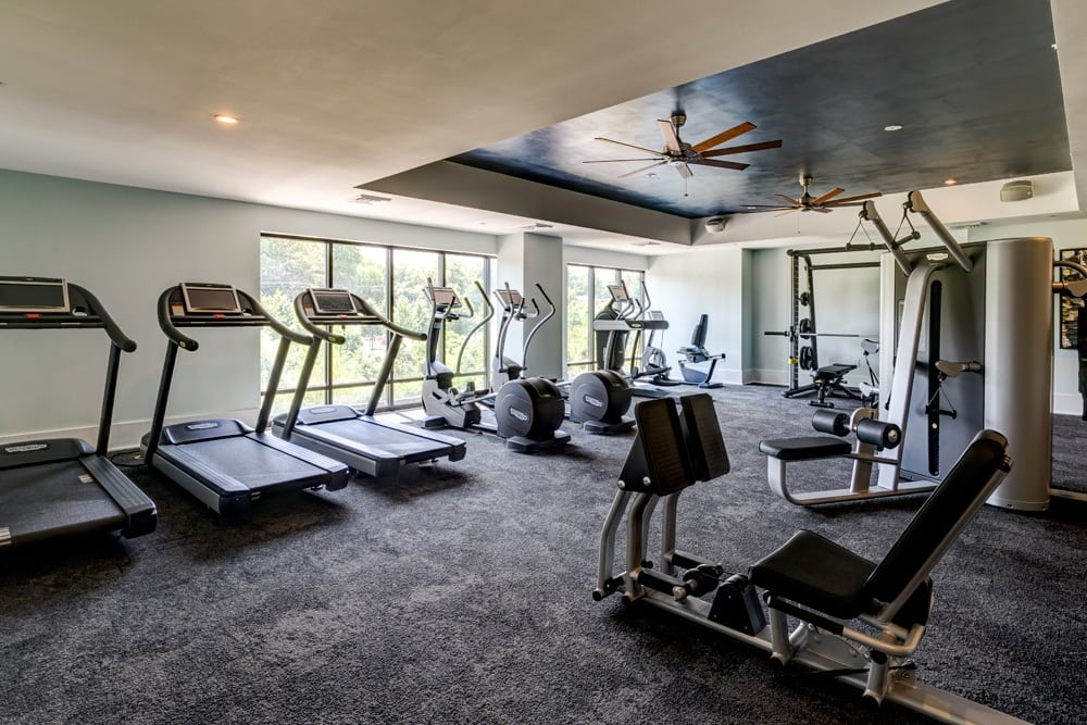 Exercise facility at Berkshire Dilworth in  Charlotte NC
