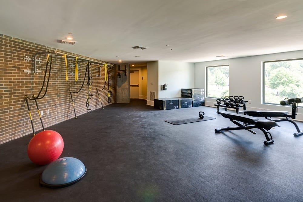 Spacious fitness center at Berkshire Dilworth