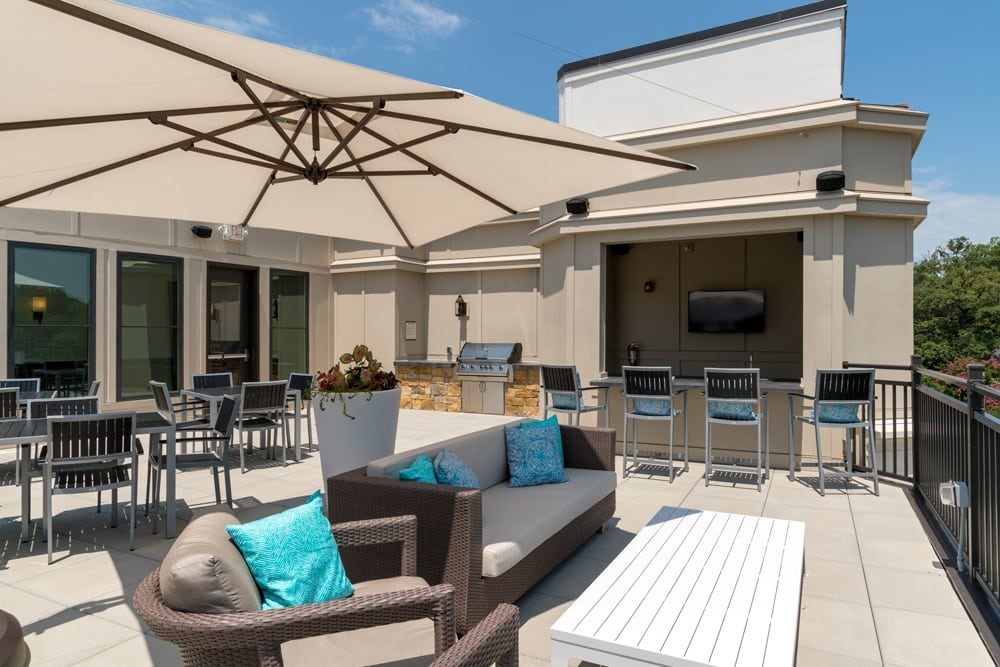 Relax on the patio at Berkshire Dilworth in  Charlotte NC