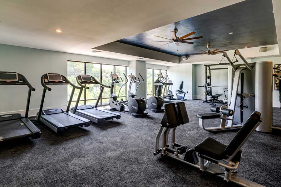 Berkshire Dilworth offers luxury apartments w/ a gym in Charlotte, North Carolina