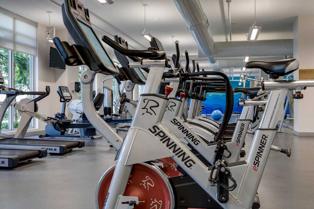 Stay healthy in our well equipped fitness center at Berkshire Lauderdale By The Sea