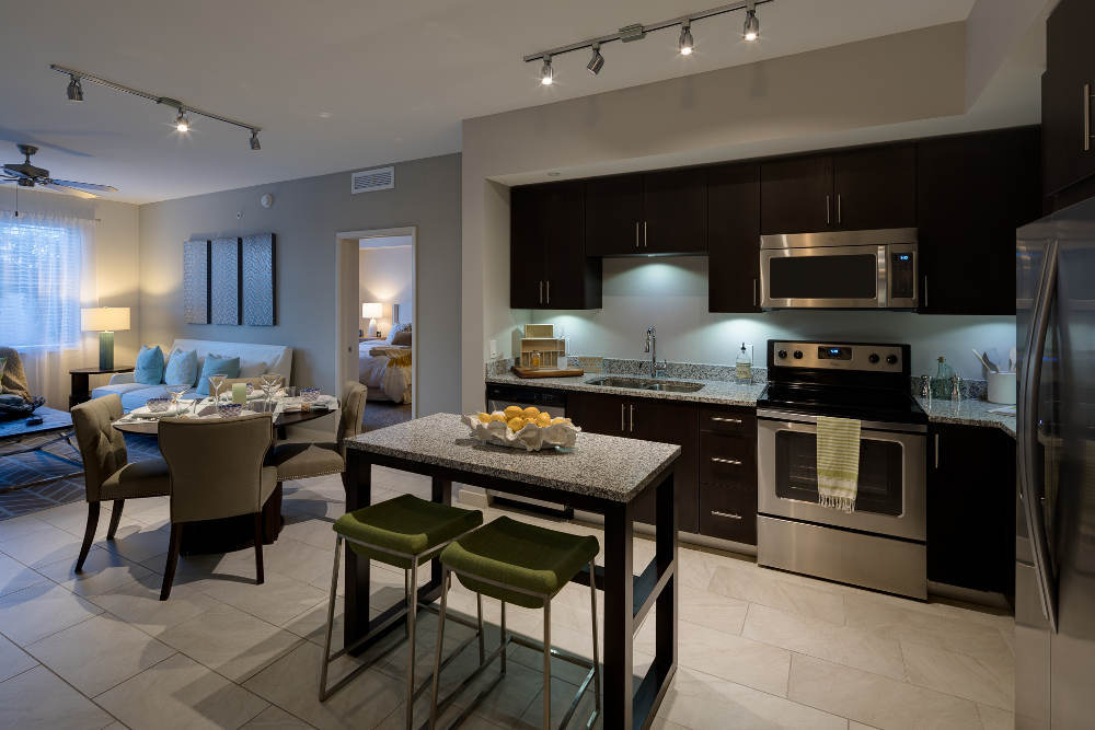 The kitchens at Berkshire Lauderdale By The Sea luxury apartments are huge and full of all the conveniences you'll need to prepare a feast