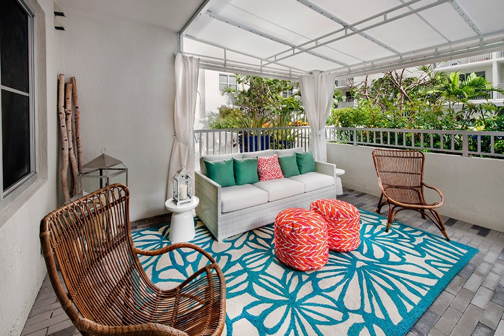 Your private balcony at Berkshire Lauderdale By The Sea provides a pleasurable outdoor spot to relax without leaving the comfort of your apartment home.