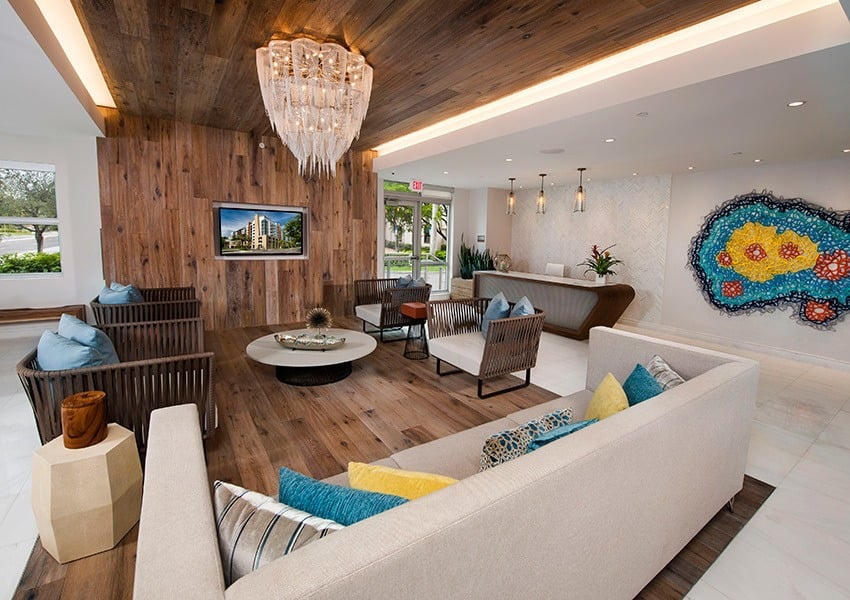 Our leasing office's luxurious feel at Berkshire Lauderdale By The Sea is just a small indicator of what to expect from our top-shelf apartment community in Ft. Lauderdale, FL