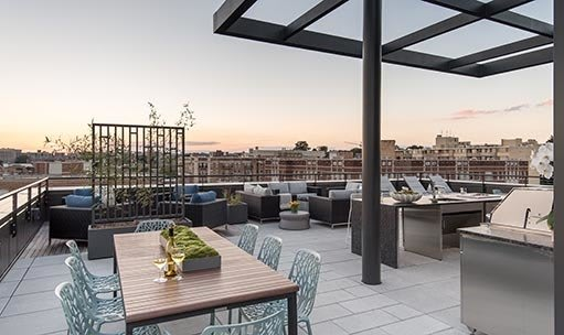 Rooftop apartments available at Berkshire 15 in Washington DC
