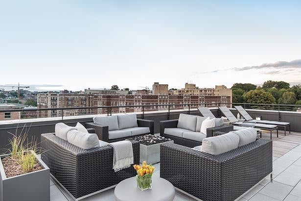 Enjoy the view of Washington from the rooftop lounge at Berkshire 15