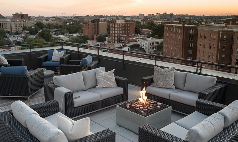 Firepit on the rooftop at Berkshire 15