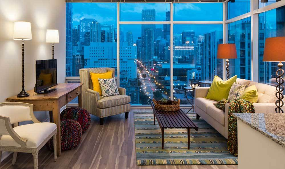 Living Room Views At Our Luxury Chicago Apartments