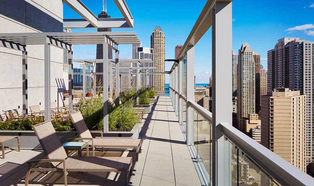 Rooftop Garden At Our Luxury Chicago Apartments