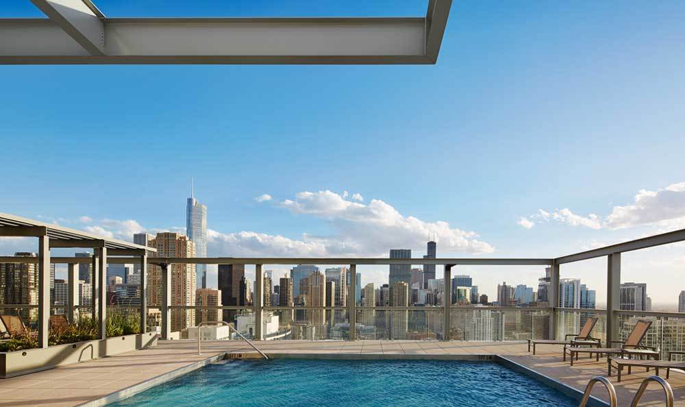Rooftop Pool At Our Luxury Chicago Apartments