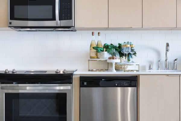 New appliances at apartments in San Diego