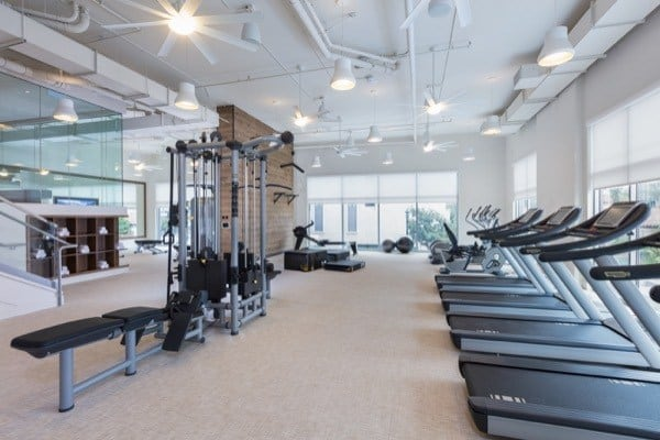 fitness center at The REY in San Diego