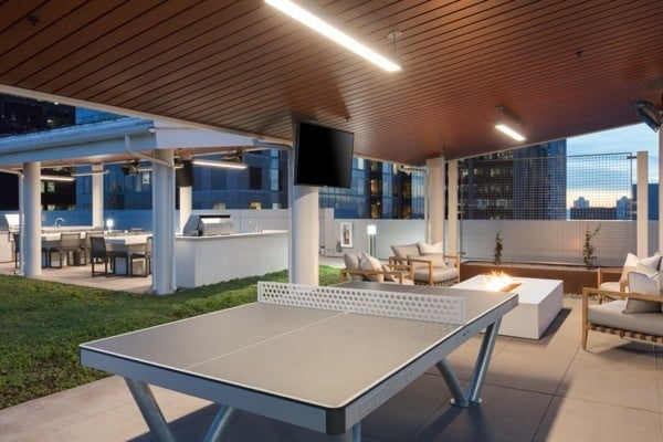 San Diego apartments includes a community ping pong table