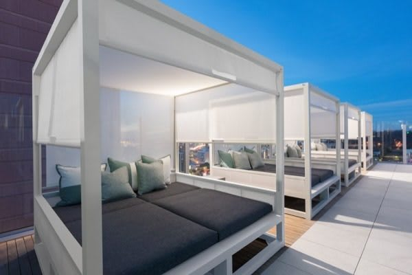 cabanas to relax at luxury apartments in San Diego