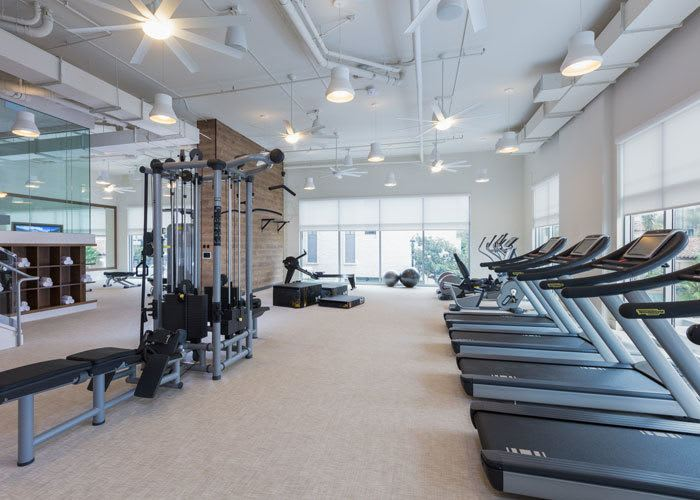 The REY in San Diego, California has an industrial-inspired gym!