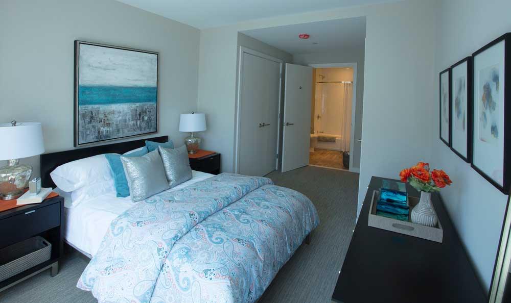 VIA Seaport Residences bedroom