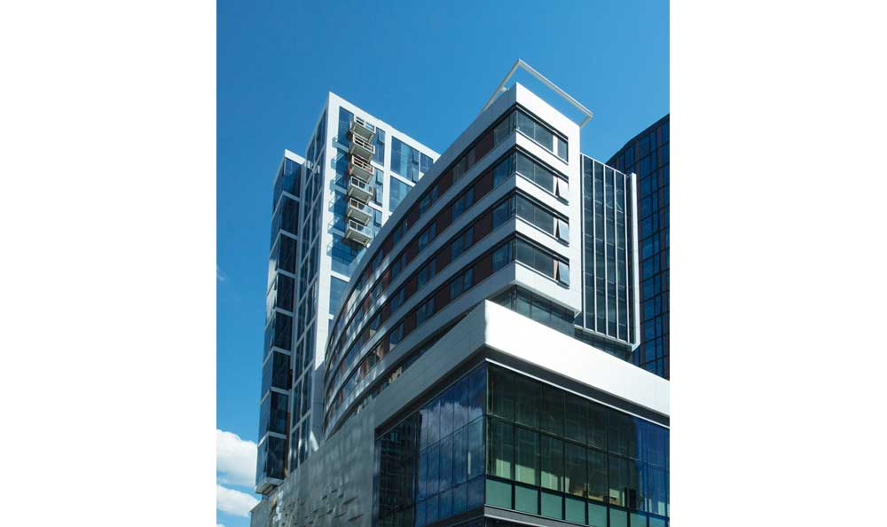 Building Exterior at VIA Seaport Residences in Boston, MA