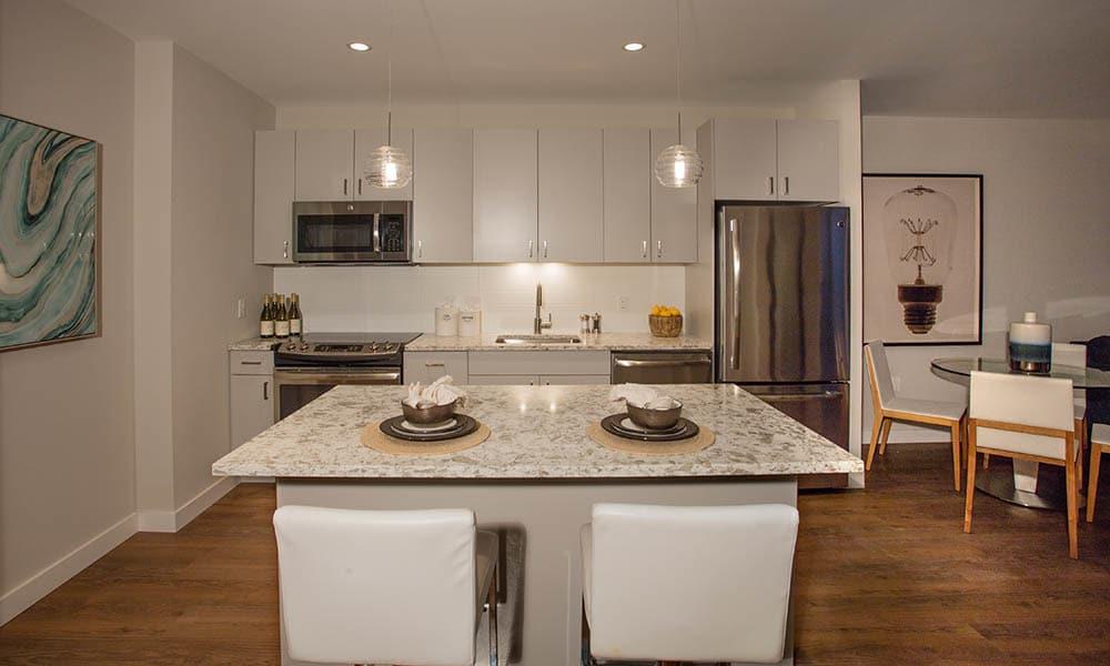 Designer kitchen design at VIA Seaport Residences