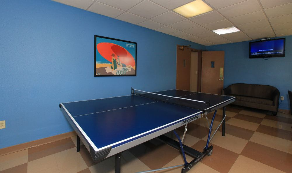 Ping pong tables at our St Louis Apartments