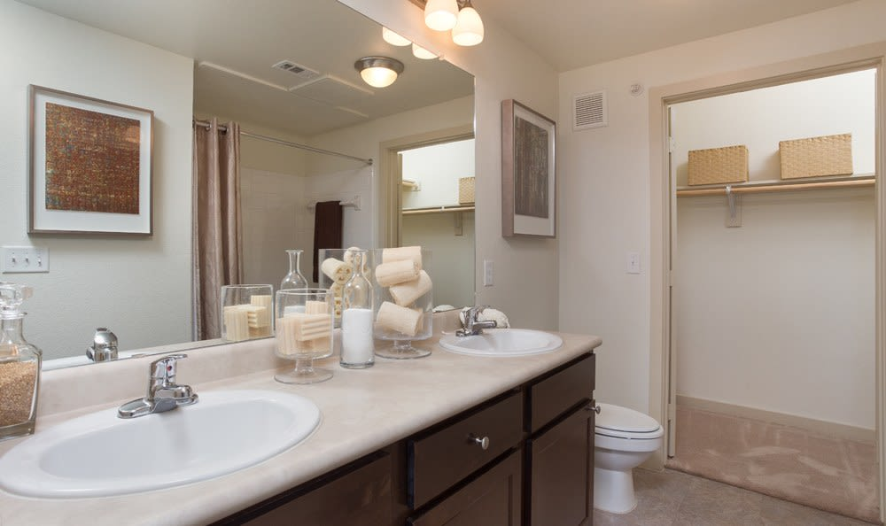 Bathroom in one of our apartments for rent in Richardson