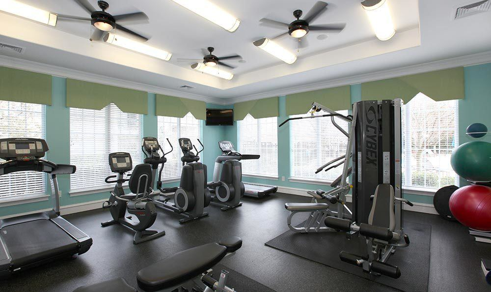 The fitness center inside our Annapolis MD apartments