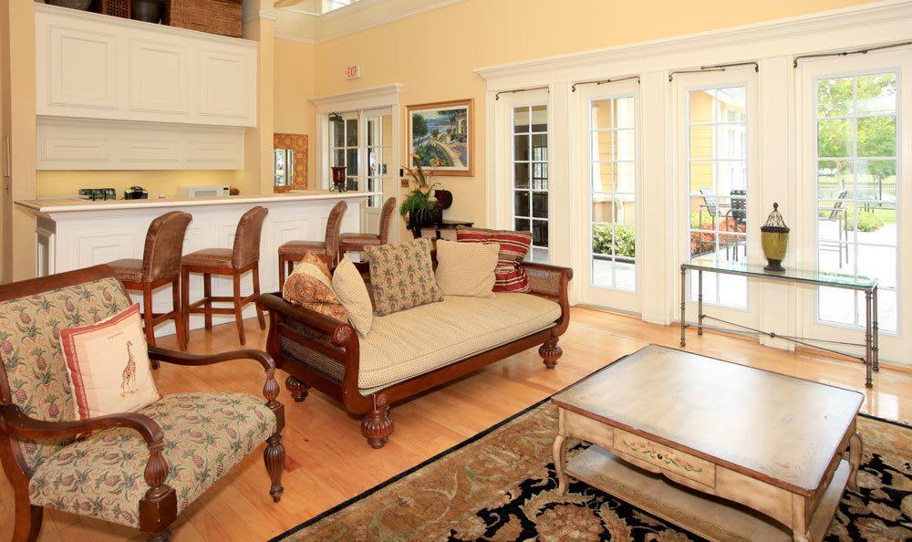 Bright living room at Tampa FL apartments